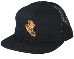 Crash Hand Black Trucker - Santa Cruz