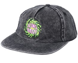 Slime Ball Washed Black Snapback - Santa Cruz