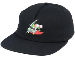Slashed Black Strapback - Santa Cruz