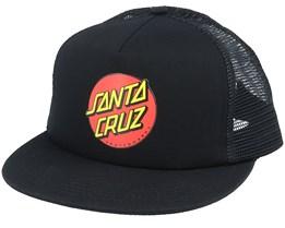 Classic Dot Black/Black Trucker - Santa Cruz