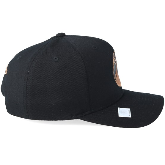 Minnesota Timberwolves Leather Logo Black 110 Adjustable - Mitchell   Ness  - Start Gorra - Hatstore 3deaf84c884