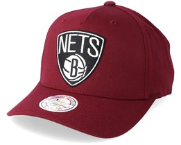 Brooklyn Nets Outline Logo Burgundy 110 Adjustable - Mitchell & Ness