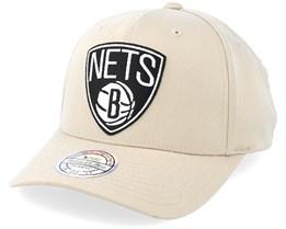 Brooklyn Nets Outline Logo Sand 110 Adjustable - Mitchell & Ness
