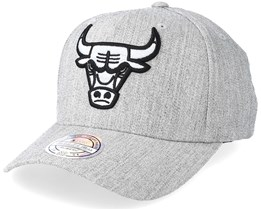 Chicago Bulls Outline Logo Melange Grey 110 Adjustable - Mitchell & Ness