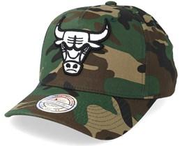 Chicago Bulls Outline Logo Woodland Camo 110 Adjustable - Mitchell & Ness