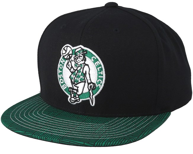 newest ab524 287c8 Boston Celtics Team DNA Black Green Snapback - Mitchell   Ness