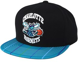 Charlotte Hornets Team DNA Black/Teal Snapback - Mitchell & Ness