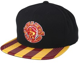 Cleveland Cavaliers Team DNA Black/Burgundy/Yellow Snapback - Mitchell & Ness