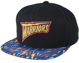da9c674b488 Golden State Warriors Team DNA Black Pattern Snapback - Mitchell   Ness