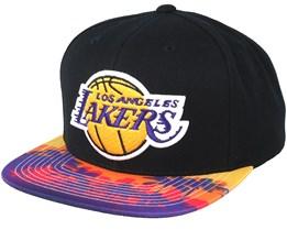 LA Lakers TEAM DNA Black/Palms Snapback - Mitchell & Ness