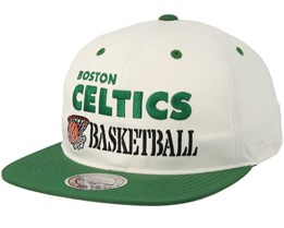 Boston Celtics Dunk White/Green Snapback - Mitchell & Ness