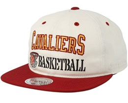 Cleveland Cavaliers Dunk White/Red Snapback - Mitchell & Ness