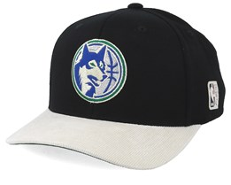 Minnesota Timberwolves Cord Black/White 110 Adjustable - Mitchell & Ness