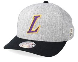 LA Lakers Hometown Heather Grey/Black 110 Adjustable - Mitchell & Ness