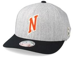 6f7317fc5ea New York Knicks Hometown Heather Grey Black 110 Adjustable - Mitchell   Ness