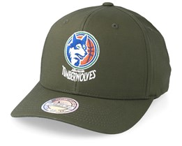 Minesota Timberwolves Battle Green 110 Adjustable - Mitchell & Ness
