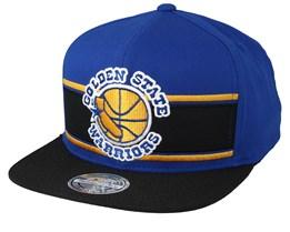 Golden State Warriors Eredita Blue/Black 110 Snapback - Mitchell & Ness
