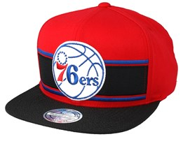 Philadelphia 76ers Eredita Red/Black 110 Snapback - Mitchell & Ness