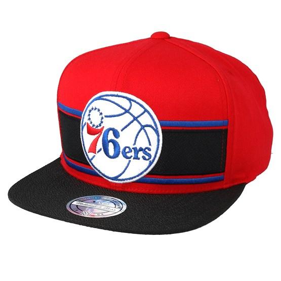 d02a9a7816f Philadelphia 76ers Eredita Red Black 110 Snapback - Mitchell   Ness caps -  Hatstorecanada.com