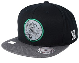 Boston Celtics Reflective Duo Black/Grey Snapback - Mitchell & Ness