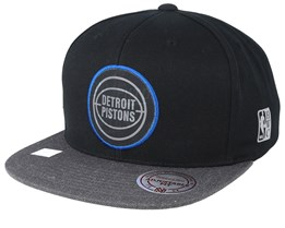 Detroit Pistons Reflective Duo Black/Grey Snapback - Mitchell & Ness