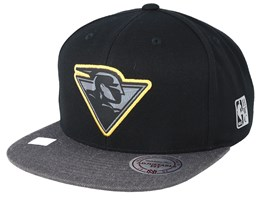 Golden State Warriors Reflective Duo Black/Grey Snapback - Mitchell & Ness