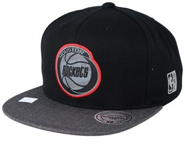 online retailer ef272 f7c05 Houston Rockets Reflective Duo Black Grey Snapback - Mitchell   Ness