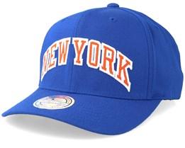 New York Knicks Jersey Logo 110 Blue Adjustable - Mitchell & Ness