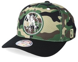 Boston Celtics Mesh 110 Camo/Black Adjustable - Mitchell & Ness
