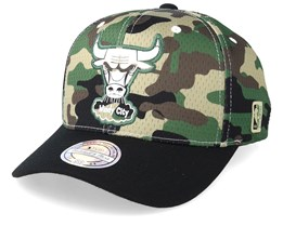 Chicago Bulls Mesh 110 Camo/Black Adjustable - Mitchell & Ness