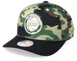 Houston Rockets Mesh 110 Camo/Black Adjustable - Mitchell & Ness