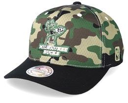 Milwaukee Bucks Mesh 110 Camo/Black Adjustable - Mitchell & Ness