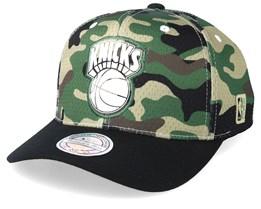 New York Knicks Mesh 110 Camo/Black Adjustable - Mitchell & Ness