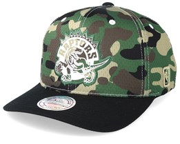 Toronto Raptors Mesh 110 Camo/Black Adjustable - Mitchell & Ness
