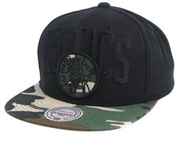 Boston Celtics Blind Camo Black/Camo Snapback - Mitchell & Ness