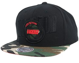 Houston Rockets Blind Camo Black/Camo Snapback - Mitchell & Ness