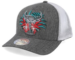 Chicago Bulls Downtown Grey/White 110 Trucker - Mitchell & Ness