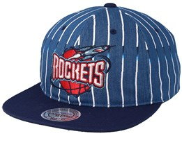 Houston Rockets Pinstripe Denim/Navy Snapback - Mitchell & Ness