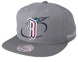 Houston Rockets Overlap Grey Snapback - Mitchell & Ness