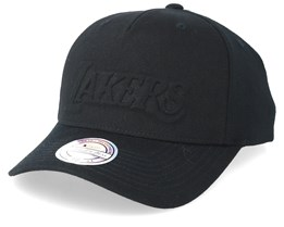 LA Lakers Deboss Black 110 Adjustable - Mitchell & Ness
