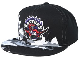 Toronto Raptors Squadra Black Snapback - Mitchell & Ness