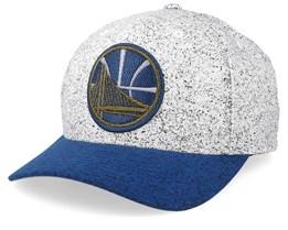 Golden State Warriors No Rest Speckle White/Blue 110 Adjustable - Mitchell & Ness