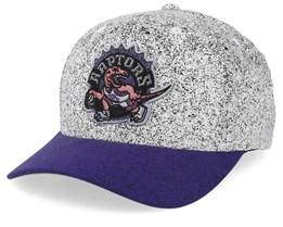 Toronto Raptors No Rest Speckle White/Purple 110 Adjustable - Mitchell & Ness