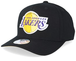 LA Lakers Chrome Logo Black 110 Adjustable - Mitchell & Ness