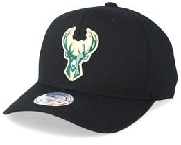 Milwaukee Bucks Chrome Logo Black 110 Adjustable - Mitchell & Ness