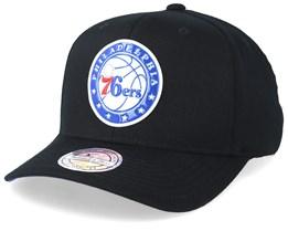 Philadelphia 76ers Chrome Logo Black 110 Adjustable - Mitchell & Ness