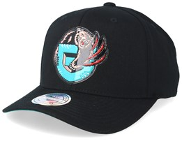 Vancouver Grizzlies Chrome Logo Black 110 Adjustable - Mitchell & Ness