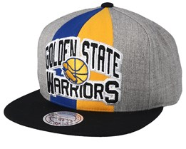 Golden State Warriors Equipe Grey/Black Snapback - Mitchell & Ness