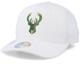 Milwaukee Bucks Ace White 110 Adjustable - Mitchell & Ness
