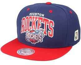 Houston Rockets Team  Arch 2 Tone S Navy/Red Snapback - Mitchell & Ness